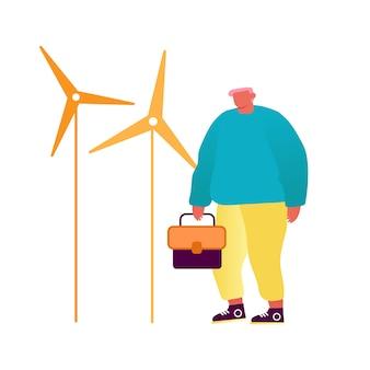 Ветряные турбины зеленого города