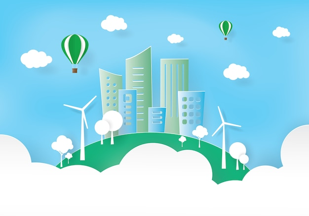 Green city, world and environment,