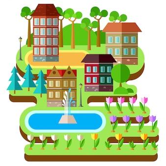 Зеленый город.