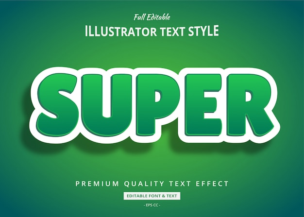 Green clean 3d text style effect