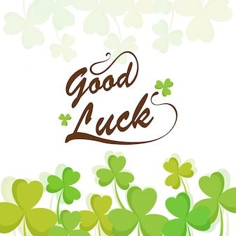 緑のクローバーの葉の背景、幸運の概念。