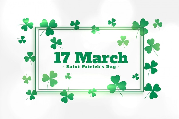 Green clover leaves st patricks day background