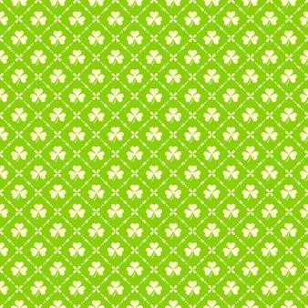 聖パトリックデーの緑のクローバーのシームレスパターン