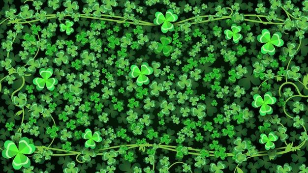Green cloverleaf background