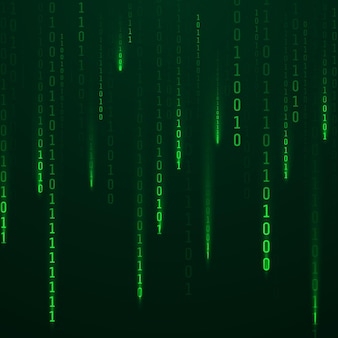 화면에 빛나는 녹색 코드 스트림