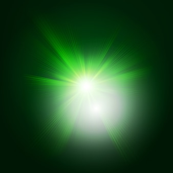 Green color design with a burst.