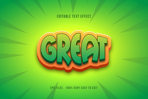 Green comic pop style text effect