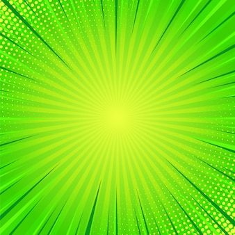 Green comics pop art background