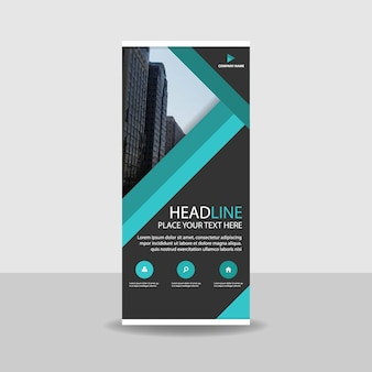 Green commercial roll up banner