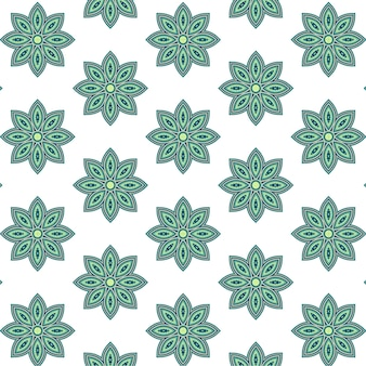 緑の複雑な花のパターン