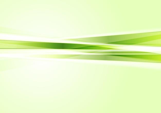 緑のコンセプトのハイテクストライプの背景。ベクトルアートデザイン