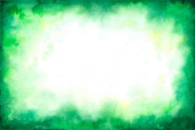Green copy space background in watercolour