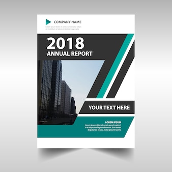 緑の創造的な年次報告書テンプレート