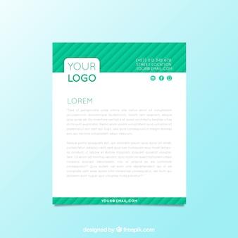 縞模様のグリーン企業パンフレット