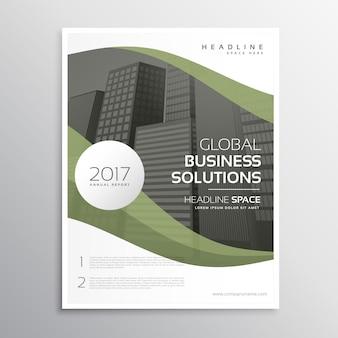 Зеленый дизайн корпоративного бизнес-летательного аппарата