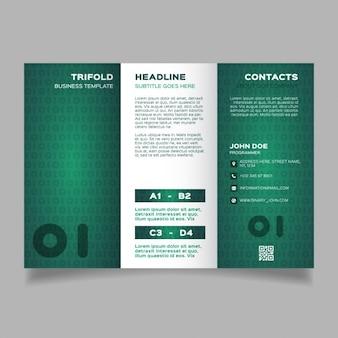 Green corporate modern brochure template