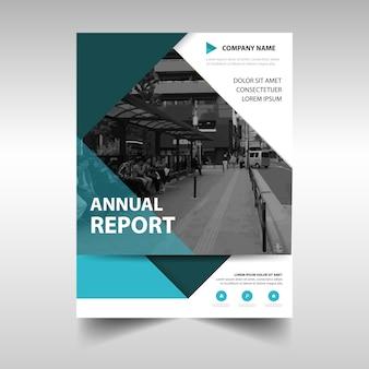 녹색 창의적인 연례 보고서 책 표지 서식 파일
