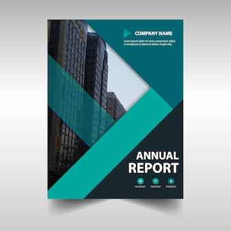 Green creative business brochure design