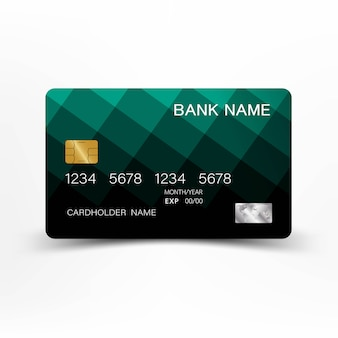 Green credit card design.