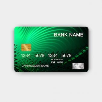 Green credit card design