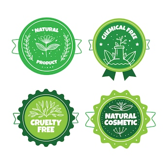 Pacchetto badge verde cruelty free