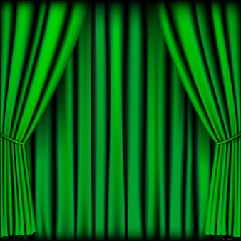 Green curtain  for background