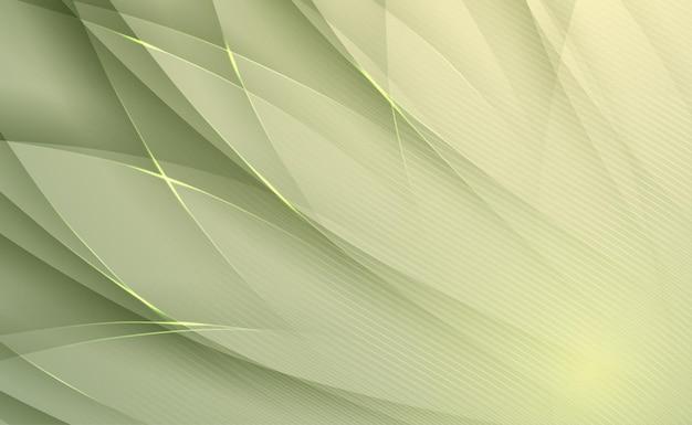 녹색 곡선과 선 추상적인 배경