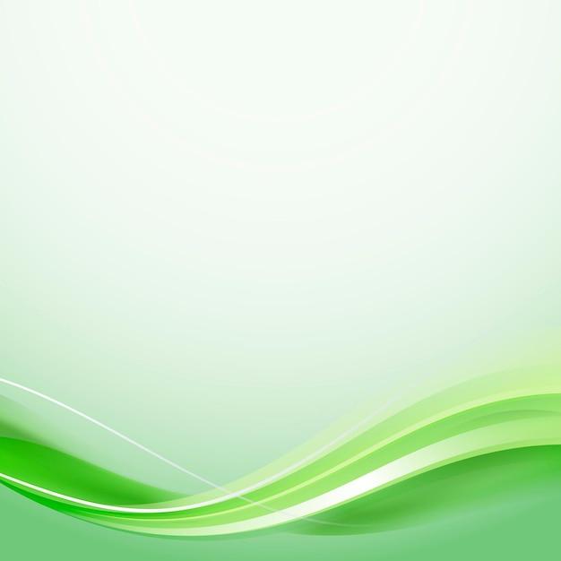 Vettore di modello di cornice curva verde
