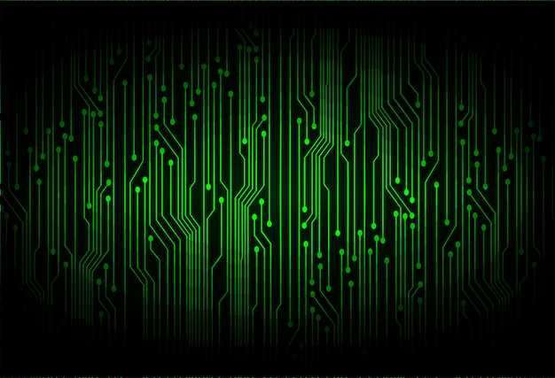 Green cyber circuit future technology  background