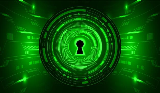 緑のサイバー回路将来の技術コンセプトの背景