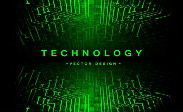 Зеленая кибер схема будущей технологии концепции