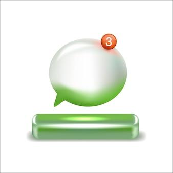 Зеленый d речи пузырь вектор