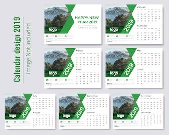 グリーンデスクカレンダー2019