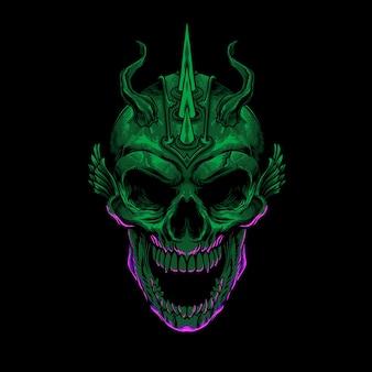 Зеленый дьявол иллюстрация