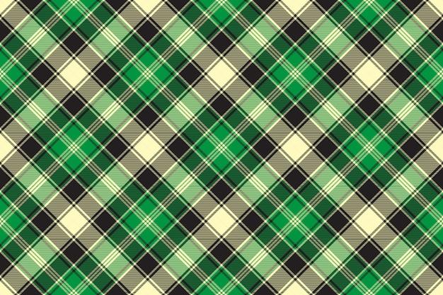 Green diagonal fabric texture tartan seamless pattern