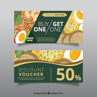 Green discount voucher for restaurant