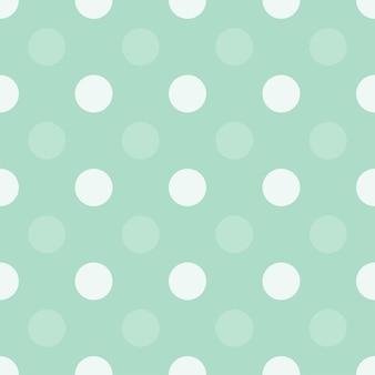 緑のドットハーフドロップ繰り返しシームレスパターンシンプルなモノクロ背景