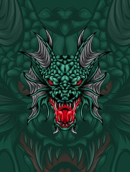 Green dragon head