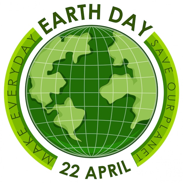 Green earth day poster
