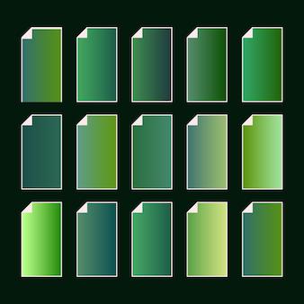 緑の地球の自然なカラーパレット。