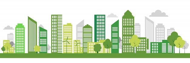 Green eco city banner