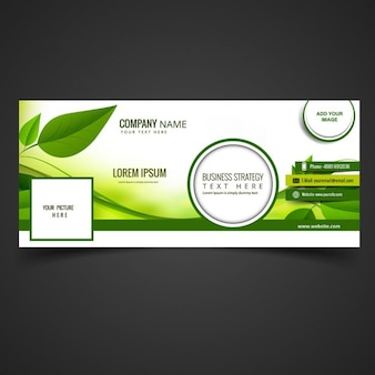 Green eco facebook cover