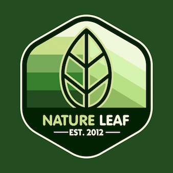 Green eco leaf vector logo