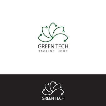 グリーンエコテクノロジーロゴテンプレートデザインベクトル