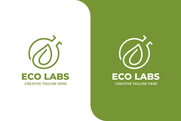 Green ecology laboratory science logo