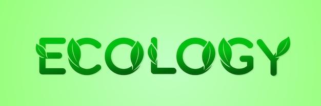 Зеленое экологическое письмо для логотипа природы