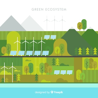 Green ecosystem concept background