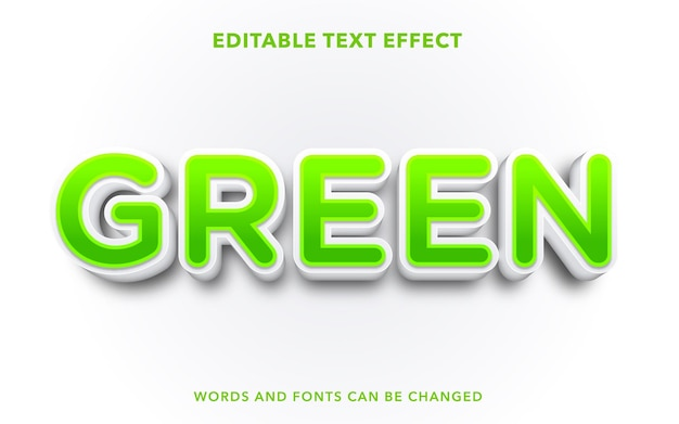 Green editable text effect style