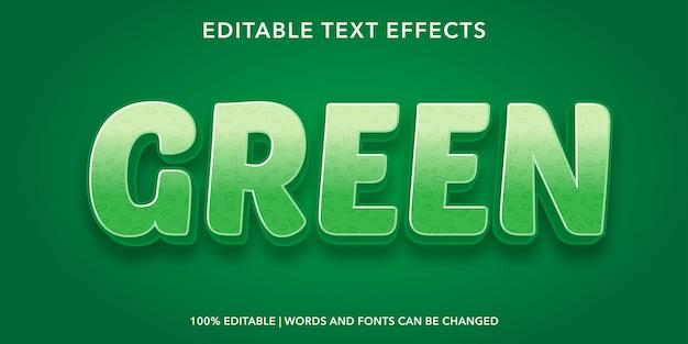 緑の編集可能なテキスト効果