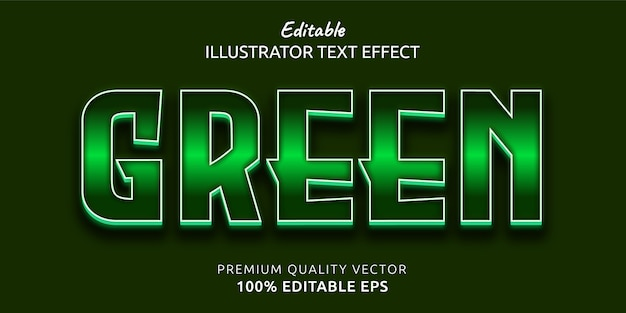 Green editable text style effect